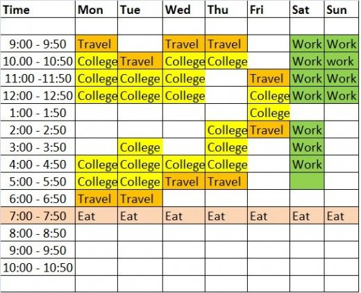 Study Timetable Template to Help You Study Better - study timetable