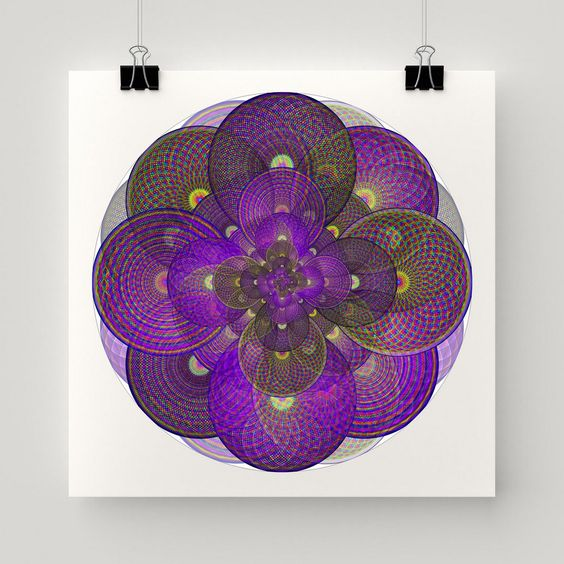Cosmic Seed Geometric Art Print