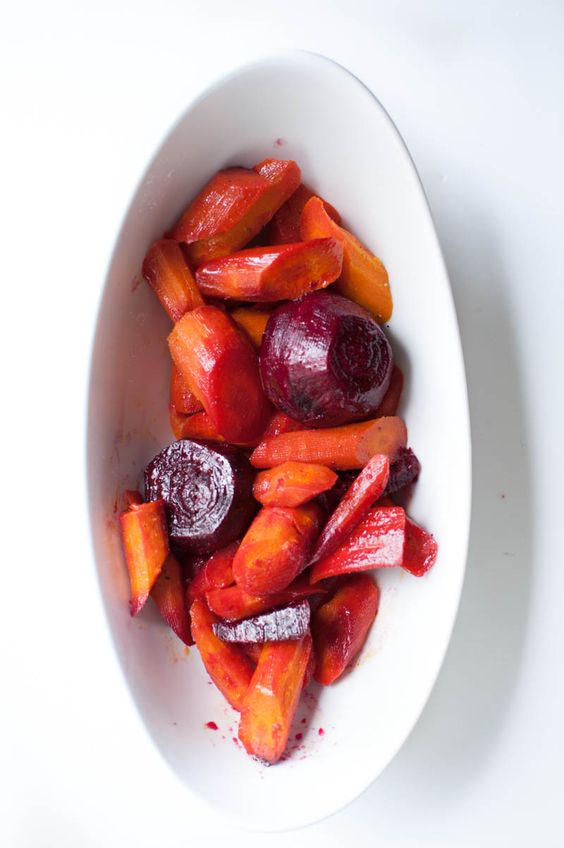 Citrus Glazed Carrots and Beets - throw them in the oven and they come out perfect. Such a healthy side dish!   #dinner #healthydinner #recipe
