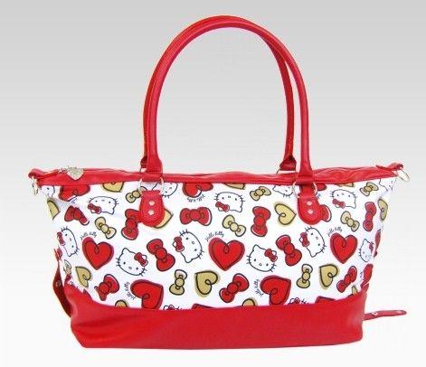 Hello Kitty Overnight Bag: Heart + Bow  Item #97075  BEST SELLER  $68.00