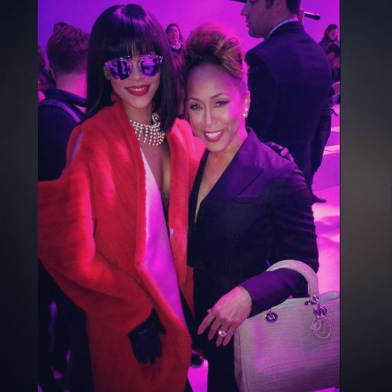 Marjorie harvey and Rihanna.