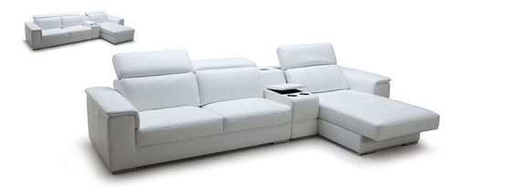 Contemporary Leather Sectional Sofa furniture in White - $4050 -- Features: L shape, Upholstered in full high quality leather #sofas #furniture #LAfurniture #sectionalsofa #sectionals #couches #Furnituredesign #HomeDecor #whitecouch #whitesofa #leathersofa #leathersofas #leathercouch #leathercouches
