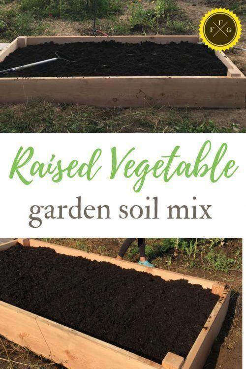 Raised Garden Bed Soil Mix Gardening Garden Vegetablegarden