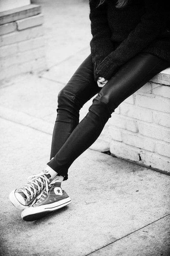 Leather and converse