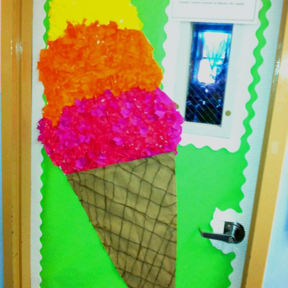 Summer Classroom Decorating Ideas ~ Giant ice cream bulletin board or door decoration for