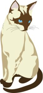 Brown And Cream Colored Cat Clip Art