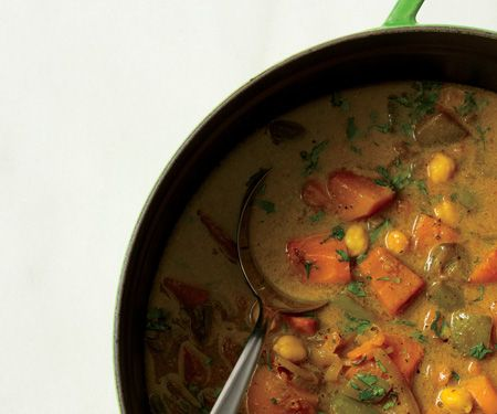 curried sweet potato and chickpea stew