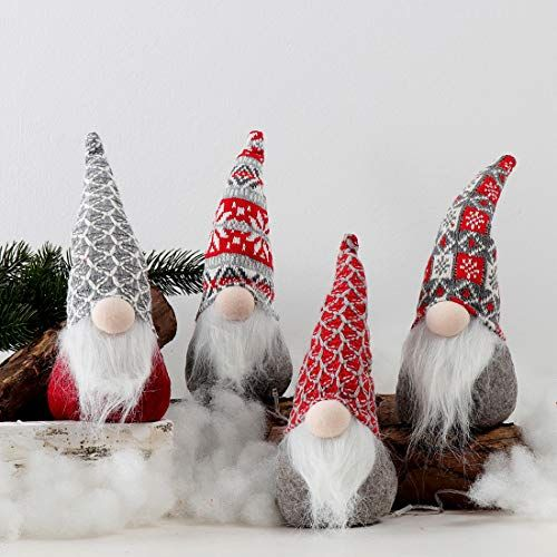 Christmas decor Stocking stuffer Christmas ornaments Tomte Christmas gnome Nordic holiday decor Gnome figurines Gnome ornament
