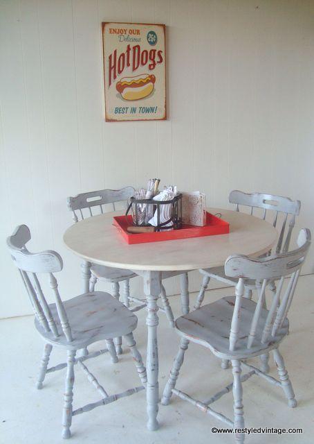 Restyled Vintage: Paris Grey Dining Suite