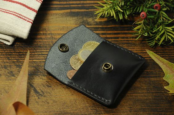 Leather Coin Wallet coin pouch leather coin by Manufacturabrand