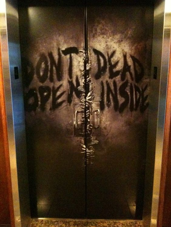Image result for zombies elevator doors