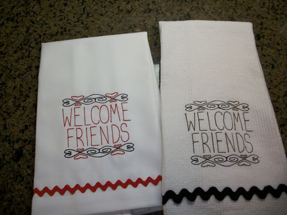 Welcome friends towels