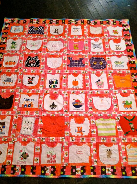 Fantasy Quilt!  I have wanted to do this since Coleman turned 2!  Baby's First Year Memory Quilt by TootsisQuilts on Etsy, $180.00