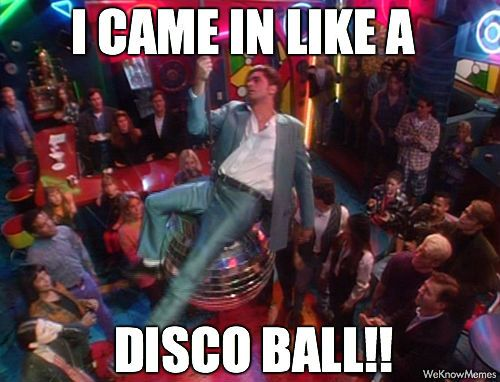 I came in like a disco ball! #UncleJesse