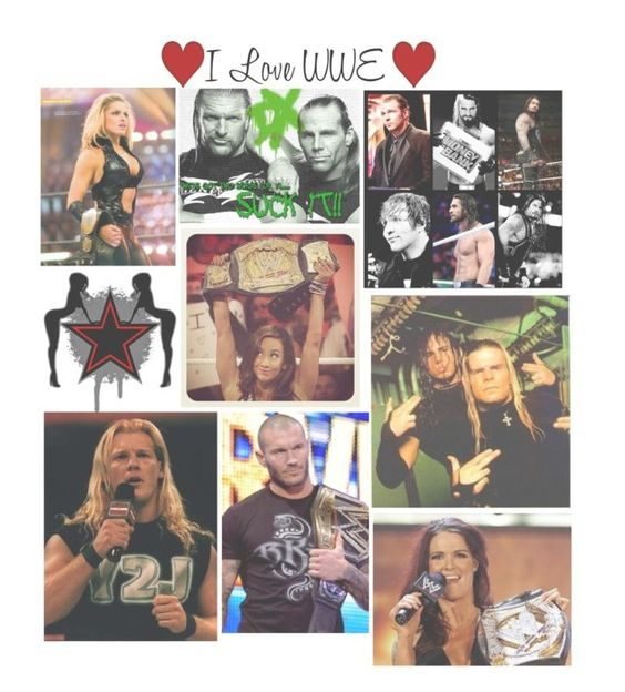 """""""I Love WWE"""" by basket-case47 ❤ liked on Polyvore"""