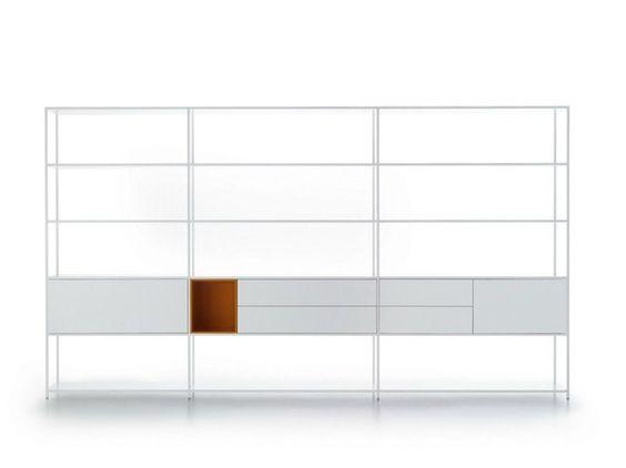 Estante aberta de alumínio MINIMA 3.0 by MDF Italia design Fattorini   Rizzini…