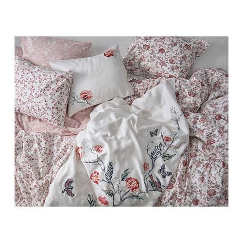 Jattelilja Duvet Cover And Pillowcase S White Floral Patterned Ikea Canada Ikea Bed Linen Sets White Linen Bedding Simple Bed
