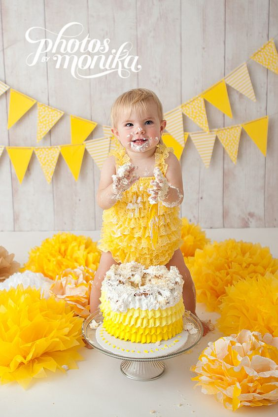 Bright Yellow Lace Petti Romper for Baby Girls and Toddlers...Ruffle Romper…