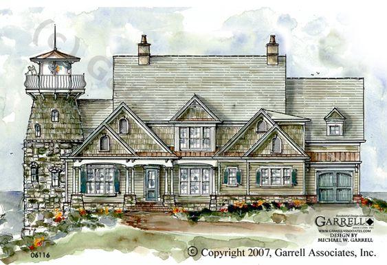 Garrell associates inc beacon bluff lighthouse plan for Lighthouse home plans