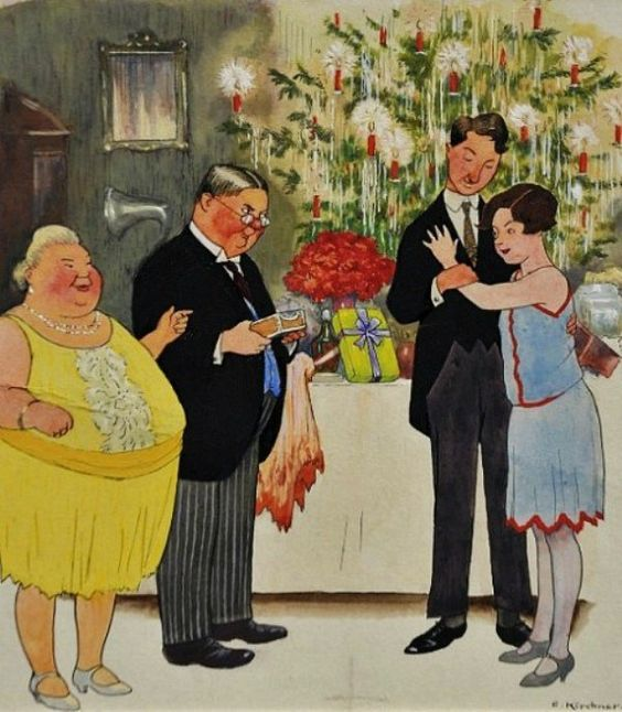Eugen Kirchner (1865-1938)  —  Christmas Eve,  1927 (600×688):