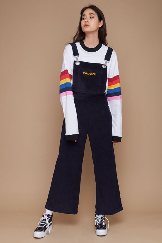 Take a trip in the Trippin Dungaree. Corduroy dungarees with 'trip pin' print. – Winter 17 Collection – 100% Cotton – Sizes UK XS, S, M and L – Model is 5ft 9″ and wears a size UK S