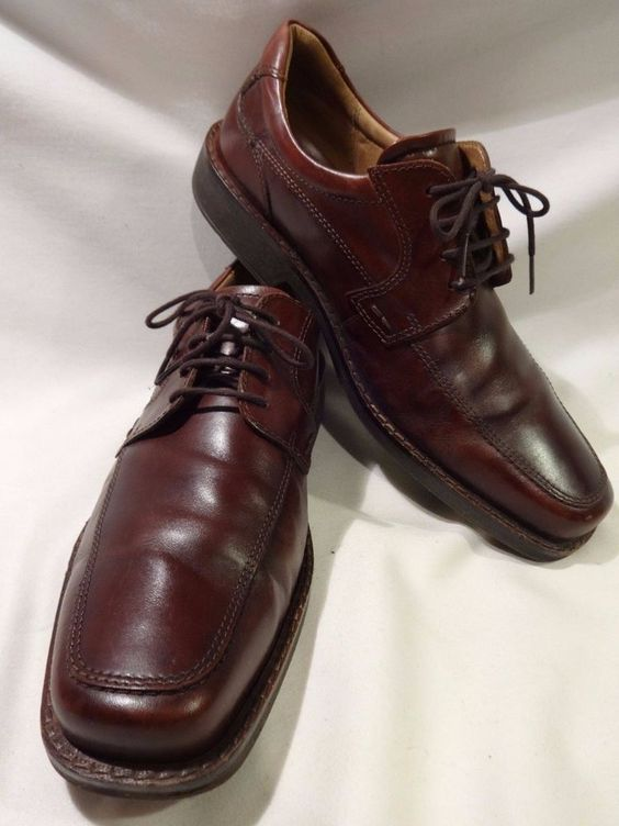 ECCO EU 45 Cordovan Brown Mens Lace Up Leather Dress Shoes Oxford US 11 - 11.5 #ECCO #Oxfords