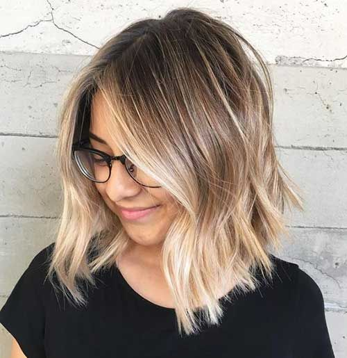 Bleib Trendy Mit Diesen Ombre Colored Bob Frisuren Bleib Bob Colored Diesen Frisuren Mit O Ombre Hair Blonde Short Hair Balayage Choppy Bob Hairstyles