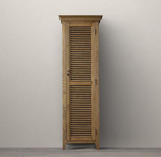Shutter medium bath cabinet medium restoration - Restoration hardware cabinets ...