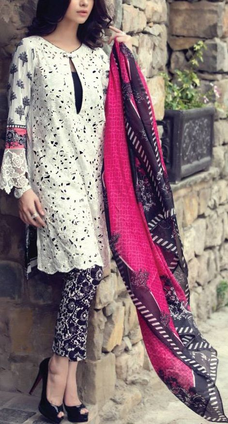 Stitching Styles Of Pakistani Dresses White Shirt
