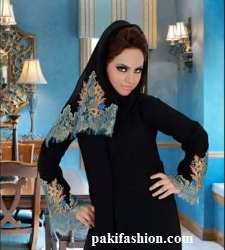 Here is a beautiful Abaya collection to inspire Abaya lover. Abaya can be designed in variety of ways. Different colors of embroidery are used to decorate abaya. Some of the Abayas also contain beautiful  and colorful stone work.