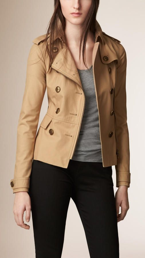 Burberry Brit Stretch Cotton Trench Jacket