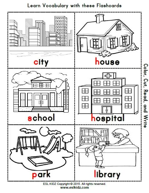Https Www Teacherspayteachers Com Product City Places Classroom Center Bundle 3250107 Worksheets For Kids Learning English For Kids Worksheets City worksheets for kindergarten