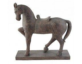 Statig Paard grijs-bruin50x15x52cm