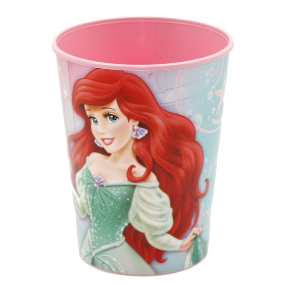 Send your little mermaids home with some undersea fun! This Little Mermaid Sparkle Party Favor Cup is the perfect treat! This cute cup features Ariel in a sparkling ball gown, with a magical pink back