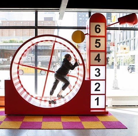 """STORY, (This Is Story), CONCEPT STORE, Tenth Avenue, New York, """"Where fun and retail mix"""", (Double dare you to get on the hamster wheel), pinned by Ton van der Veer"""