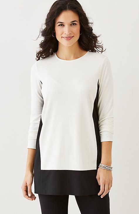 Wearever crew-neck color block tunic: