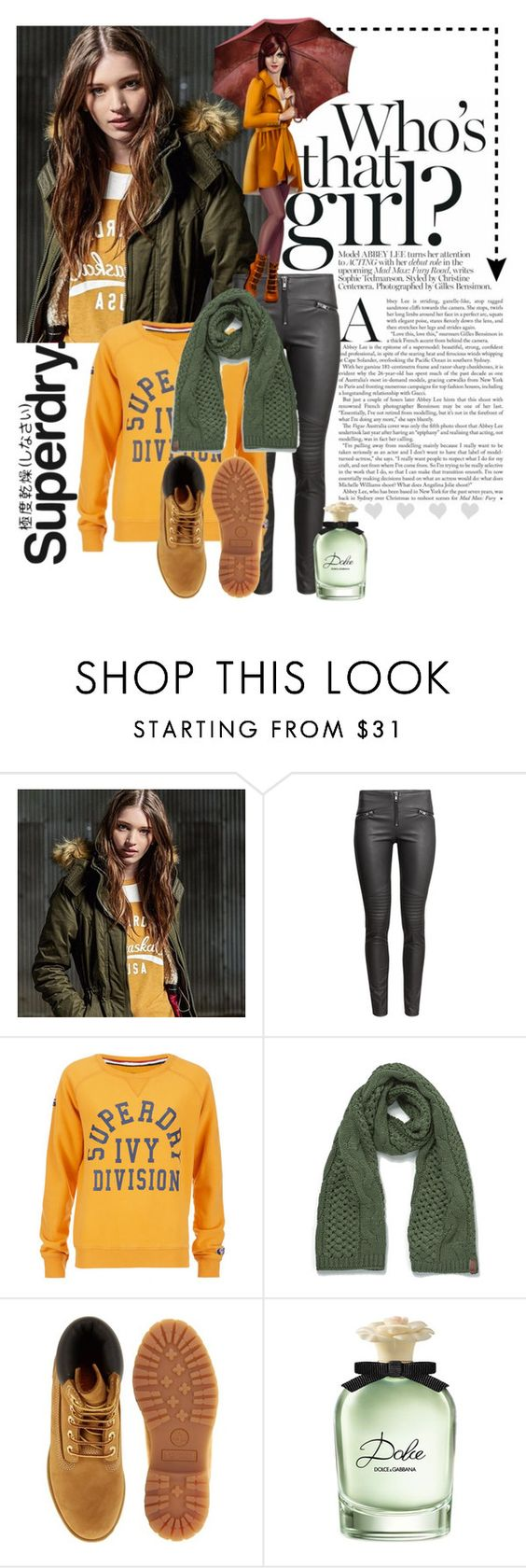 """The Cover Up – Jackets by Superdry: Contest Entry"" by natalijaxxx ❤ liked on Polyvore featuring Superdry, H&M, Timberland and Dolce&Gabbana"