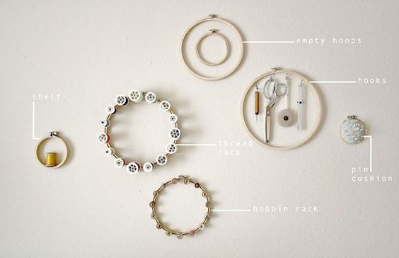 Organize necklaces.