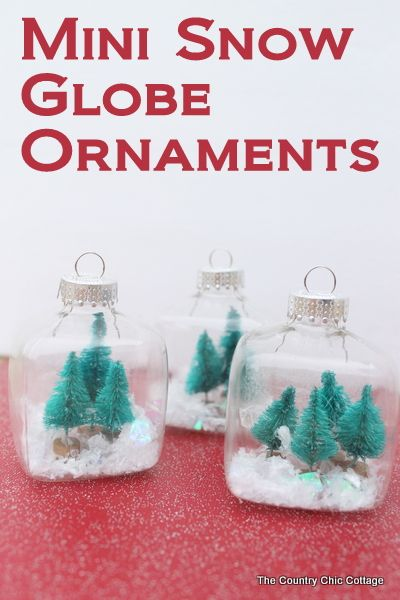 Kids craft mini snow globe ornaments crafts minis and for Easy homemade christmas snow globes