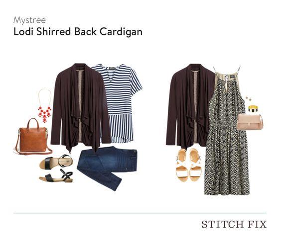 Mystree Lodi Shirred Back Cardigan $64 (Kept) - Stitch Fix 3 - August 2015