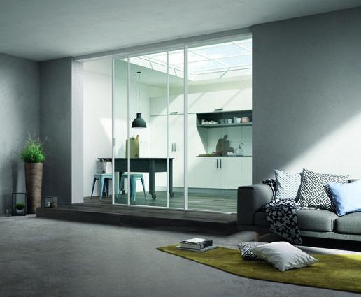 Scenario: la novità per arredare anche con le porte. Il vetro protagonista assoluto del nuovo sistema di porte scorrevoli by #FerreroLegno