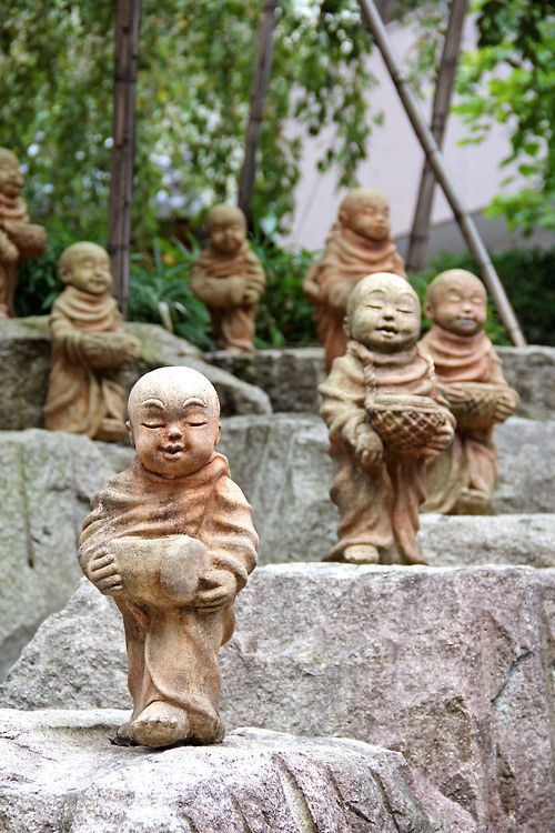 Stone Monks ~ Kyoto, Japan