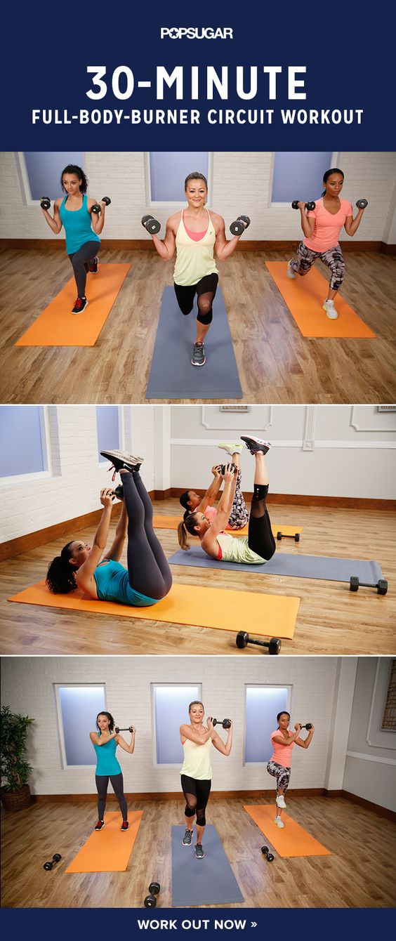 Just Press Play Day 19: You will keep moving throughout the 30 minutes using medium weights to burn serious calories while building metabolism-boosting muscles.