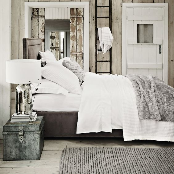 Textured faux fur throw silver the white company for White fur bedroom