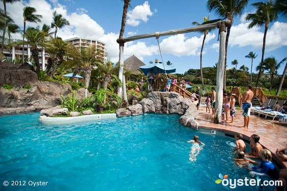 Pool at the Grand Wailea...: Pool Ideas, Rope Swing, Favorite Places Spaces, Hotel Spa, Photo, Resort Hotel, Kid