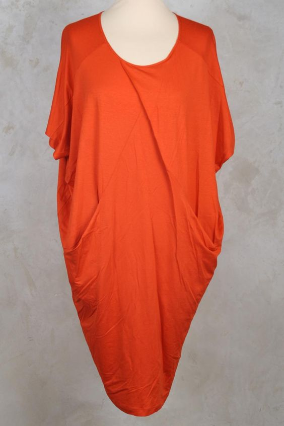 Dress with Cross Front in Clementine - Crea Concept