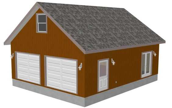 Detached garage carport plans add a bonus room and for How much to add a garage with bonus room
