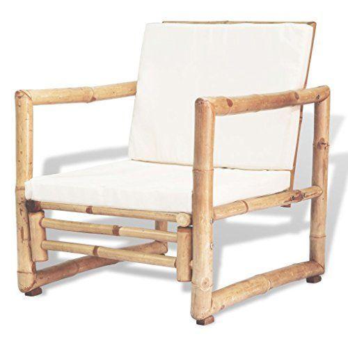 Vidaxl 2x Chaise De Jardin Bambou Siege Fauteuil Exterieur Canape De Terrasse 2x Bambou Canape Chaise De In 2020 Outdoor Chairs Rattan Chair Outdoor Furniture
