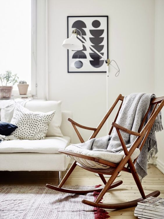 Danish Teak Rocking Chair in the Manner of Frank Reenskaug for Bramin Møbler http://www.uk-rattanfurniture.com/product/miadomodo-rattan-sun-lounger-with-roof-196x68-cm-backrest-height-adjustable-garden-day-bed-furniture-grey/