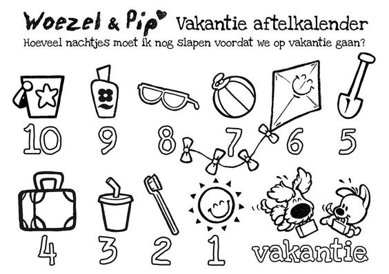 Uk En Puk Kleurplaten Sinterklaas Vakantie Aftelkalender Woezel En Pip Woezel En Pip